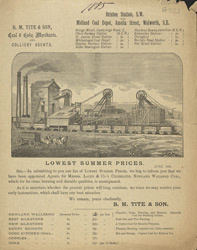 Advert For B. M.Tite & Son, Coal & Coke Merchants
